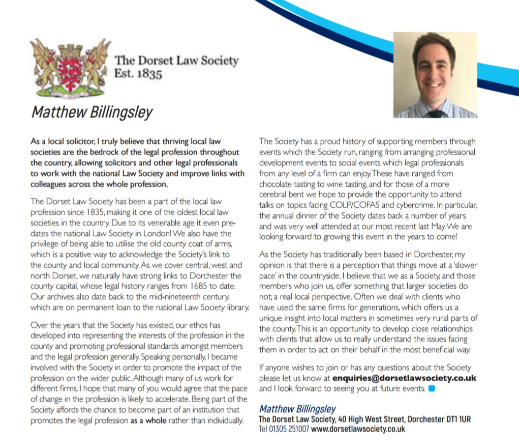Why Is Dorset Law Society Helpful For Local Solicitors?