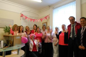 Rutters Turned Pink For The Day In Support Of Wear It Pink