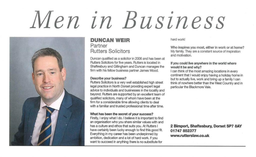 OUR VERY OWN MAN IN BUSINESS