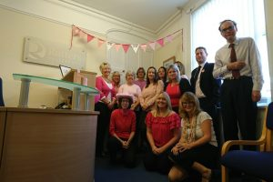 RUTTERS SUPPORTED WEAR IT PINK DAY TO RAISE FUNDS FOR THE CHARITY BREAST CANCER NOW