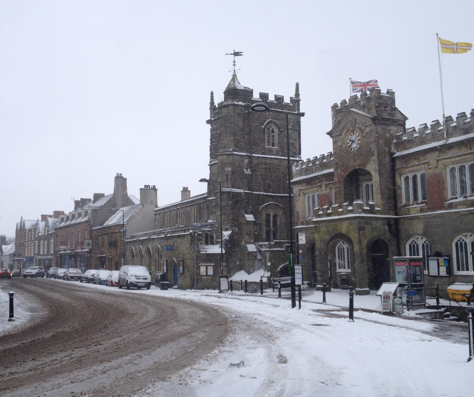 Shaftesbury High Street in the Snow