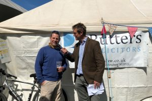 Duncan Weir Rutters Solicitors Dorset at Motcombe Fete