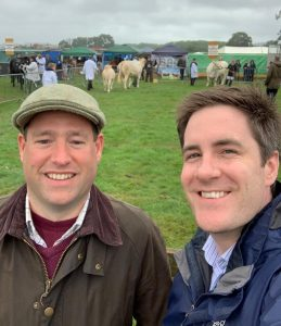 Duncan Weir and Matthew Billinglsey at Gillingham & Shaftesbury Agricultural Show, Dorset