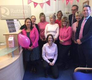 Rutters Solicitors Dorset, Shaftesbury, Gillingham and Sturminster Newton Wear it Pink Day