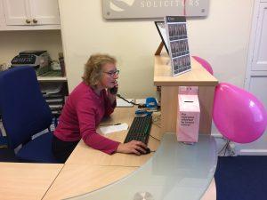 Rutters Solicitors Dorset Shaftesbury, Gillingham, Sturminster Newton Wear it Pink Day 2019